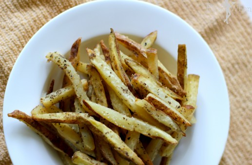 Homemade garlic and basil french fries recipe