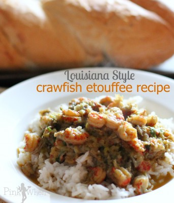 Louisiana Style Crawfish Étouffée Recipe in a white bowl