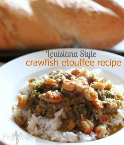 This authentic Louisiana Crawfish Etouffee Recipe has been in our family for generations. Made with onions, peppers, crawfish, and the perfect seasonings to give this etouffee recipe the best flavor! It's a recipe that never gets old and is a family tradition. You won't get a crawfish etouffee recipe as authentic as this one!