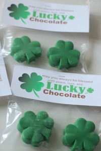 Lucky Chocolate Shamrock and Free Gift Printable