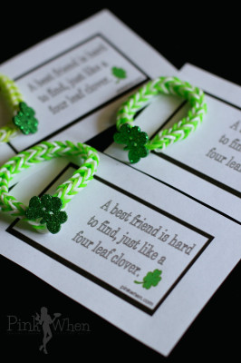 Rainbow Loom Lucky Charm Bracelet and Free Printable