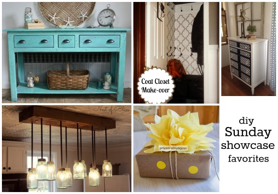 Amazing projects linked up at the diy Sunday Showcase Favorite Links 2/8 party