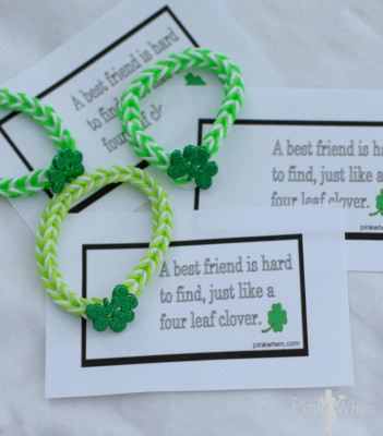 St Patrick's Day Lucky Charm Bracelet and Free Card Printable