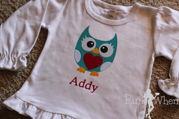 Valentines Day Owl Heart Shirt