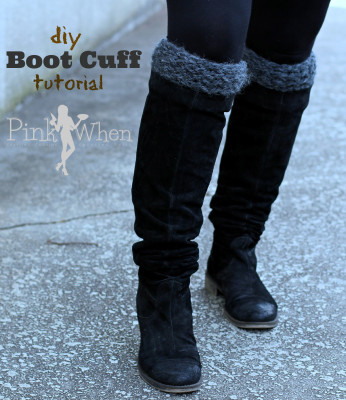 diy knitted boot cuff with video tutorial
