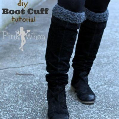 DIY Knitted Boot Cuffs