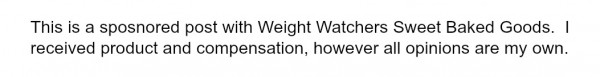 weight watchers disclaimer