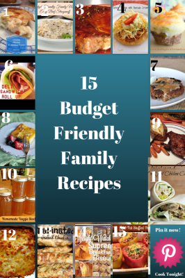 15 Budget Friendly Family Meals