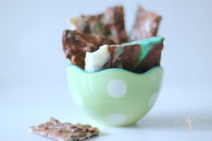 Chocolate Mint Marble Bars with Almonds