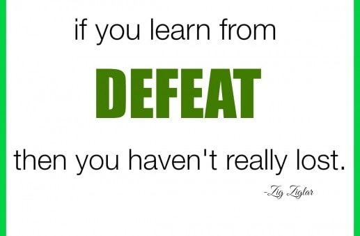 DEFEAT Zig ZIglar Quote