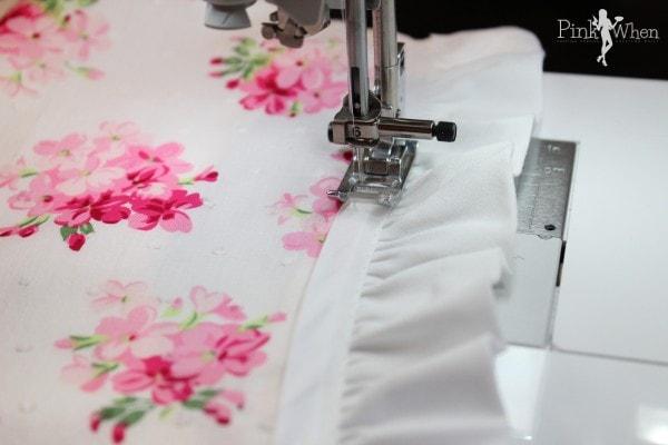 DIY Vintage Apron Sewing Ruffle
