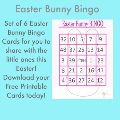 Easter Bunny Bingo Card