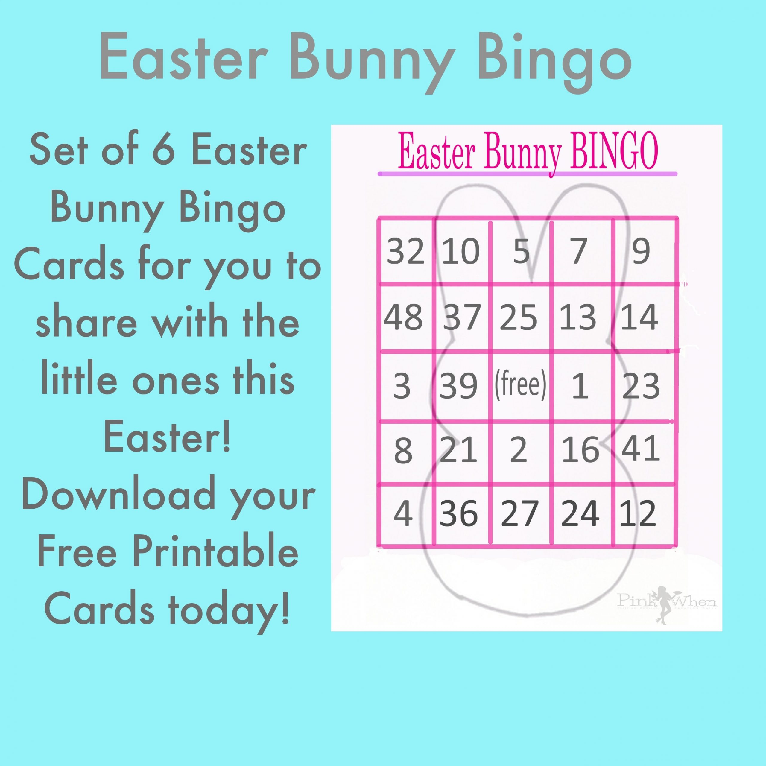 image relating to Free Printable Easter Bingo Cards named Easter Bunny Bingo Playing cards Absolutely free Printables - Site 2 of 2