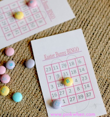Easter Bunny Bingo Game {Free Printables}
