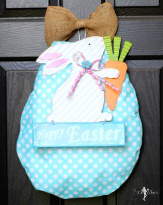 Easter Egg Bunny Wreath
