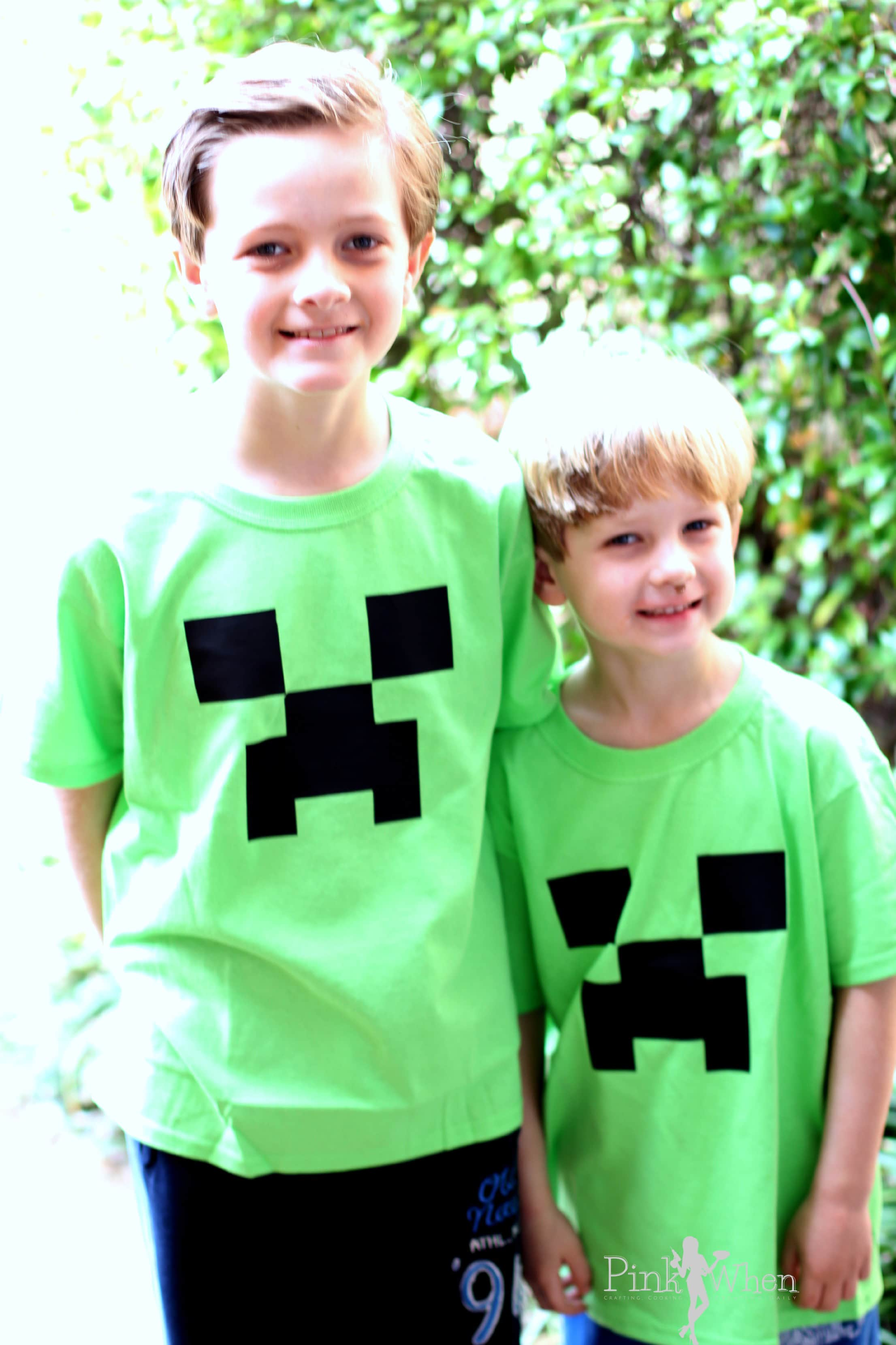Minecraft Creeper Shirt Tutorial Page 2 Of 2 Pinkwhen