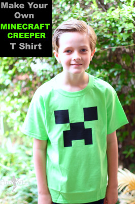 Minecraft Creeper T Shirt Tutorial