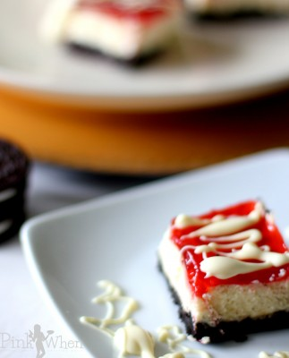 Oreo Cheescake Chocolate Covered Strawberry Bars