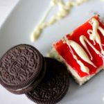 Oreo Cheesecake Chocolate Covered Strawberry Bars