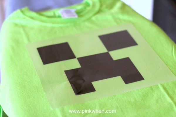 Place heat transfer onto shirt