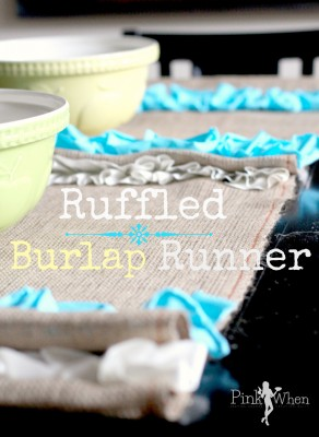 Ruffled Burlap Runner