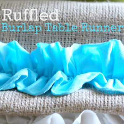 Burlap Spring Ruffled Table Runner