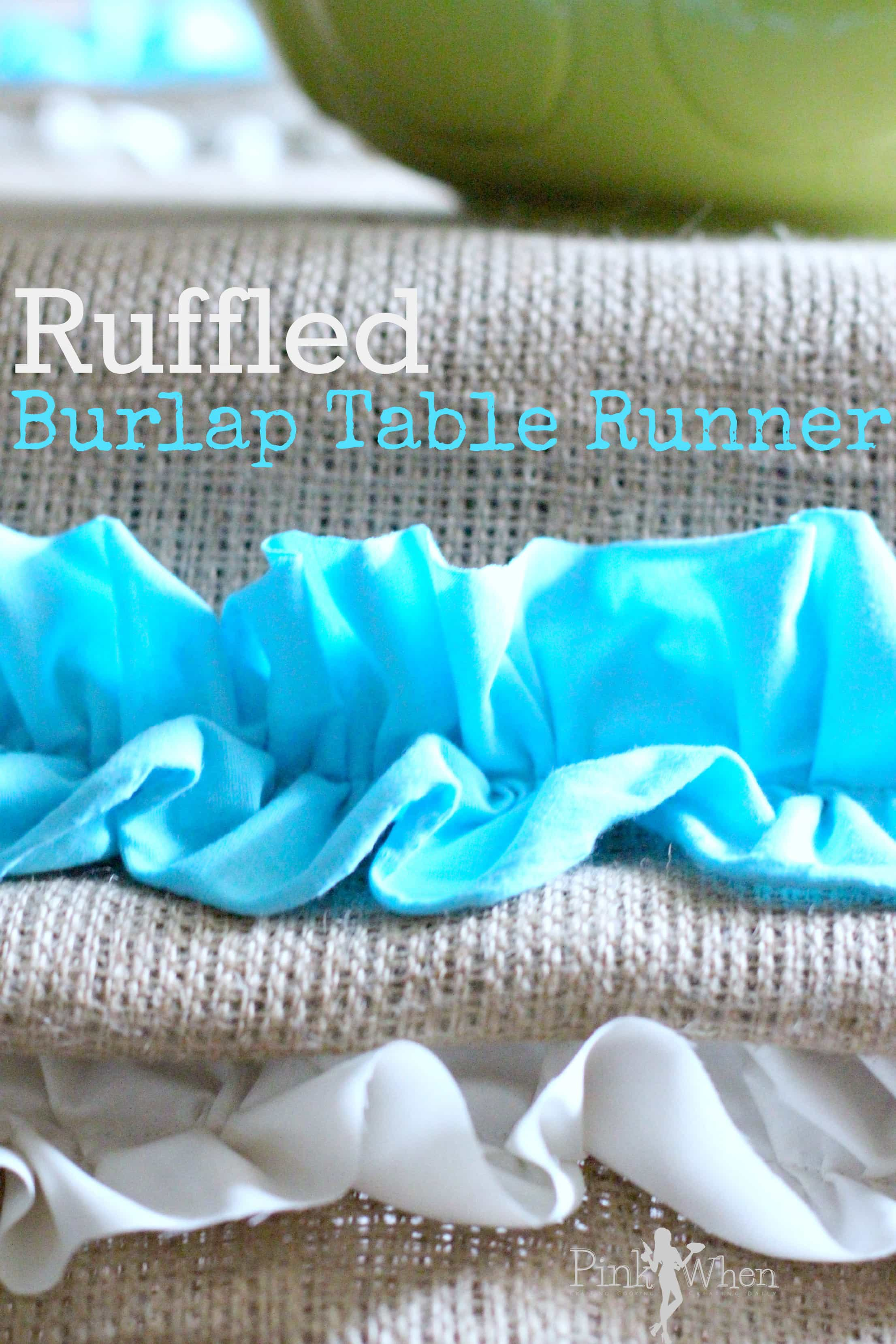 I Had To Brighten My Breakfast Room Up A Little More Than Usual, So I  Created This Fun Burlap Spring Ruffled Table Runner.
