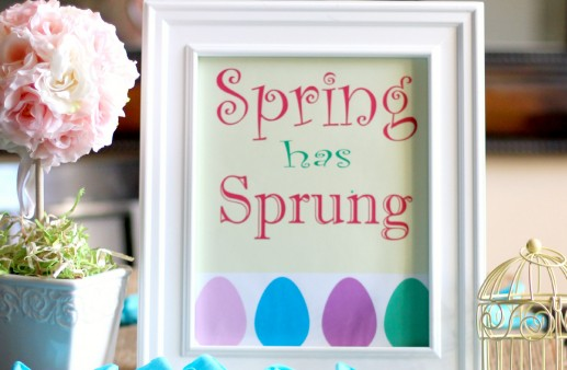 Spring has Sprung Free Printable