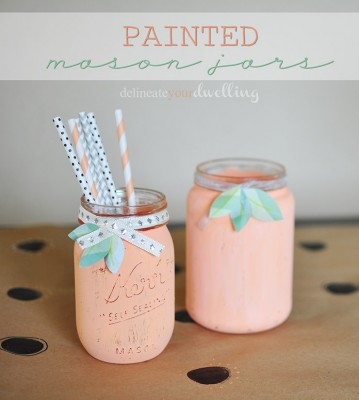 1a painted jars