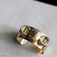 DIY Gold Cuff Button Bracelet Tutorial