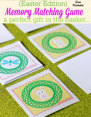 Easter Edition Memory Matching Game Free Printable | Perfect gift for Easter | download for free!