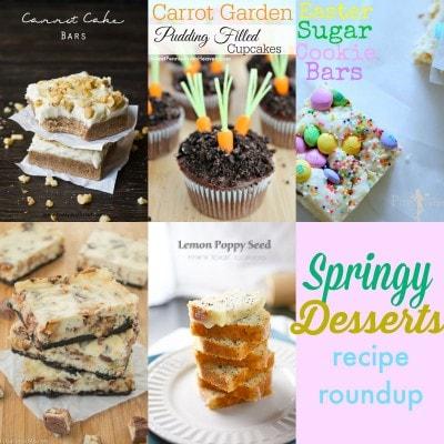Springy Desserts Recipe Roundup