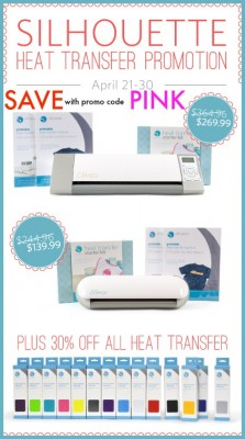 Silhouette America Heat Transfer Promotion | Save with promo code PINK