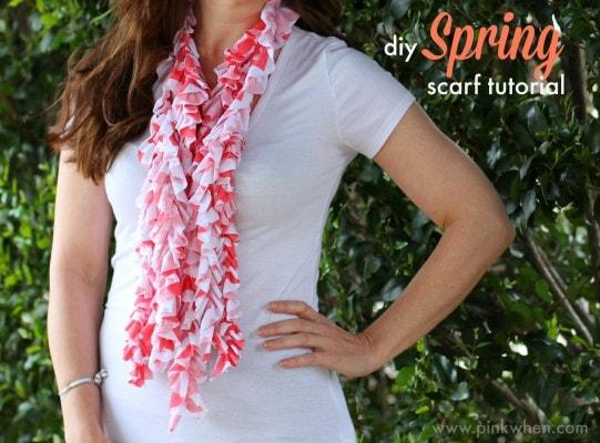 diy Spring Scarf Tutorial via PinkWhen.com