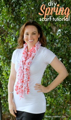 diy Spring Scarf Tutorial