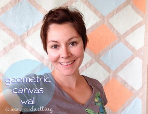 3 geometric canvas wall