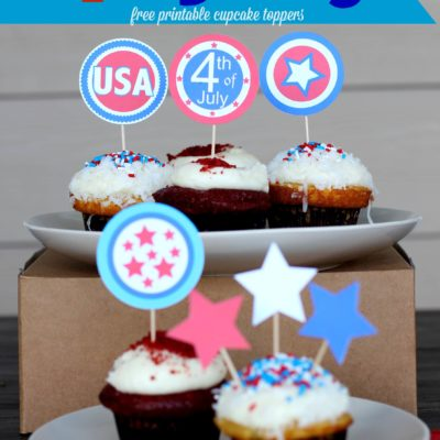 4th of July Cupcake Toppers – Free Printables