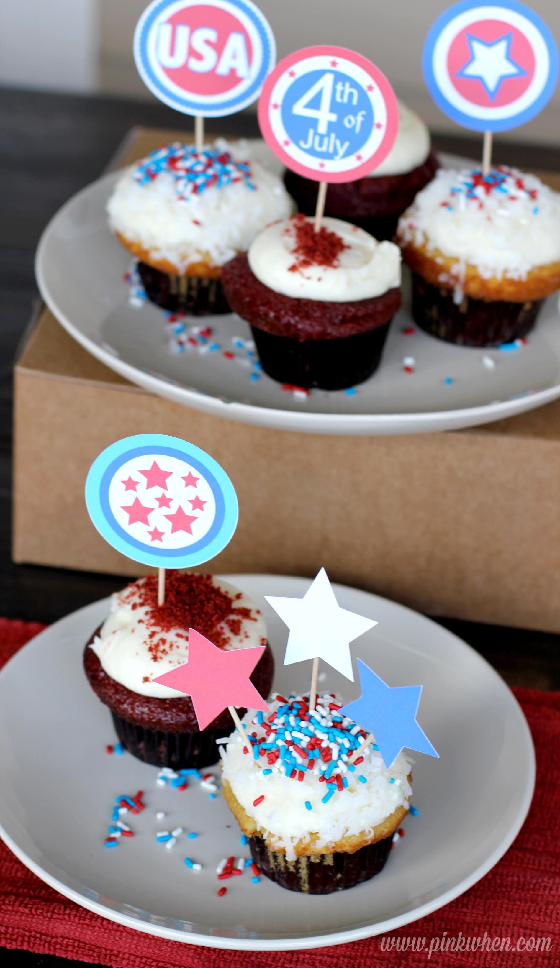 4th Of July Cupcake Toppers Free Printables Page 2 Of