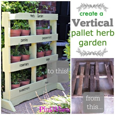 Create a Vertical Pallet Herb Garden Step by STep Instructions and Pictures