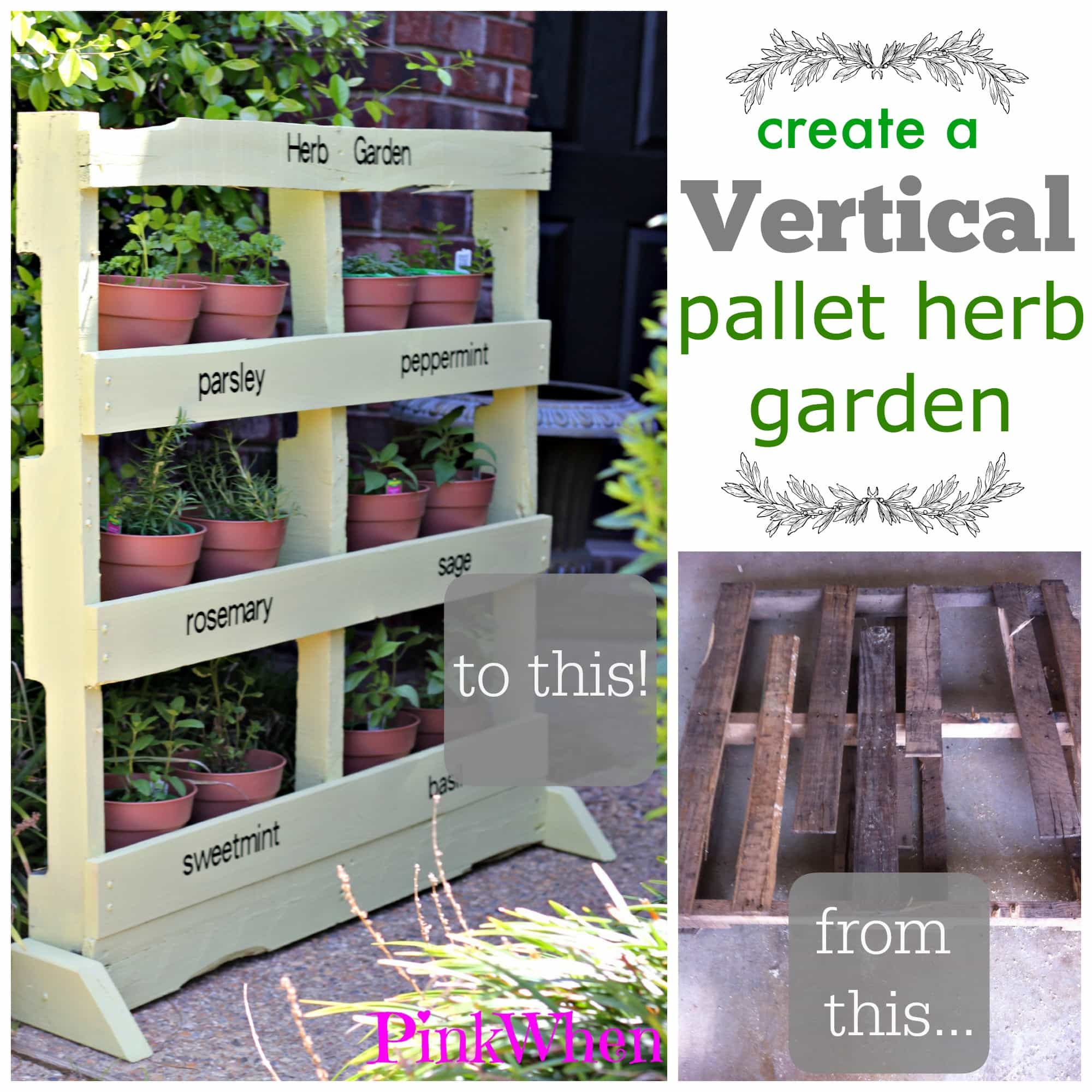 Creating A Vertical Pallet Herb Garden Page 2 Of 2 Pinkwhen