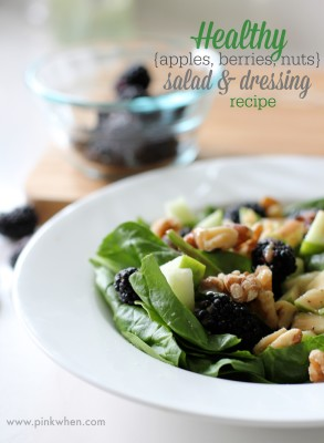 Healthy Salad and Dressing Recipe #DressingItUp PinkWhen.com
