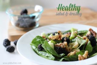 Healthy Salad and Dressing Recipe #DressingItUp