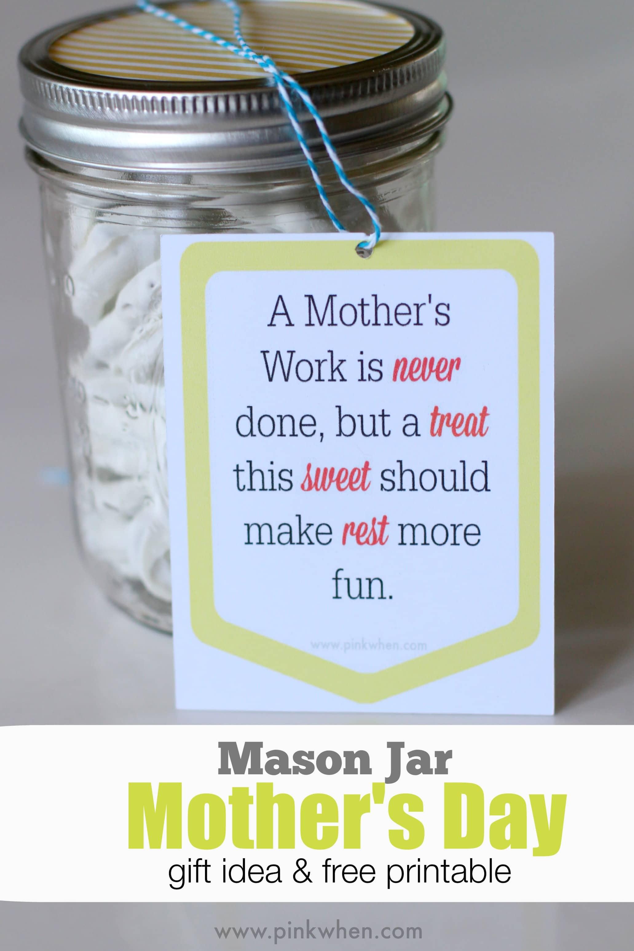 Ideia para presente de frasco de pedreiro - brinde dia das mães