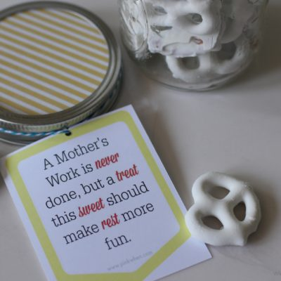 Mason Jar Gift Idea & Free Printable