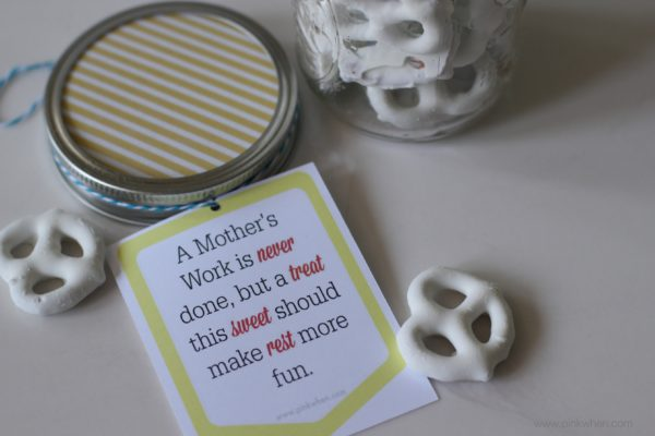 Mother's Day Mason Jar Gift Idea and Free Printable