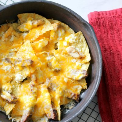 Simple Skillet Steak and Chicken Fajita Nachos Recipe