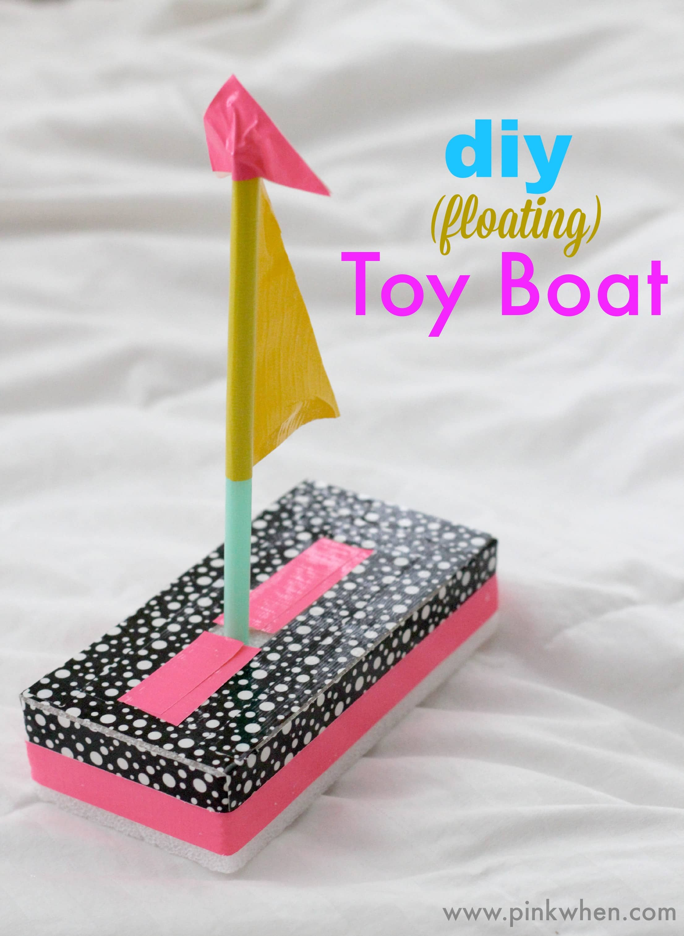 DIY Toy Boat Quick Fun crafts PinkWhen