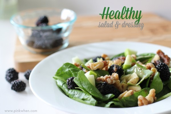 healthy salad and dressing recipe #DressingItUp 2