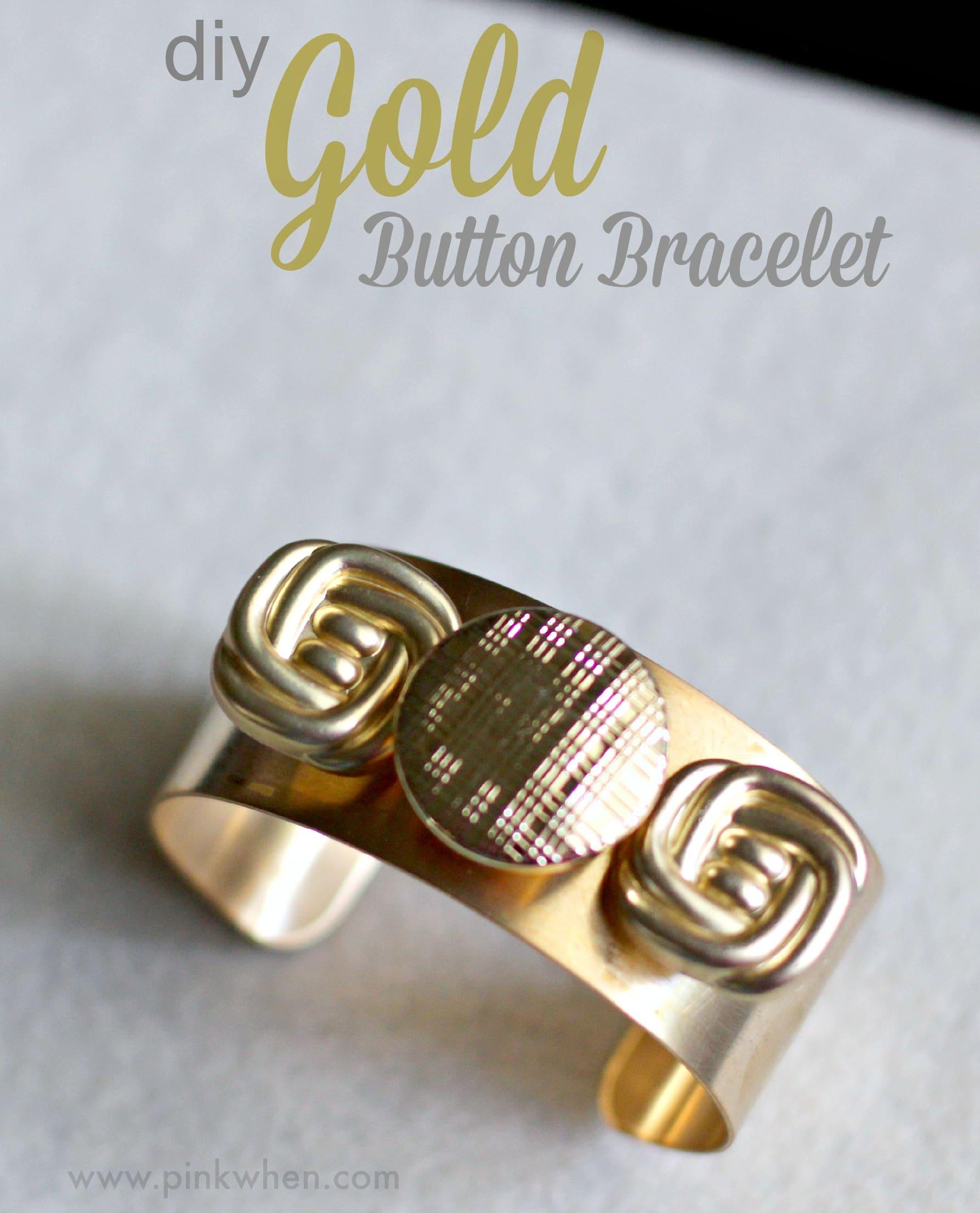 DIY Gold Button Bracelet Tutorial 5