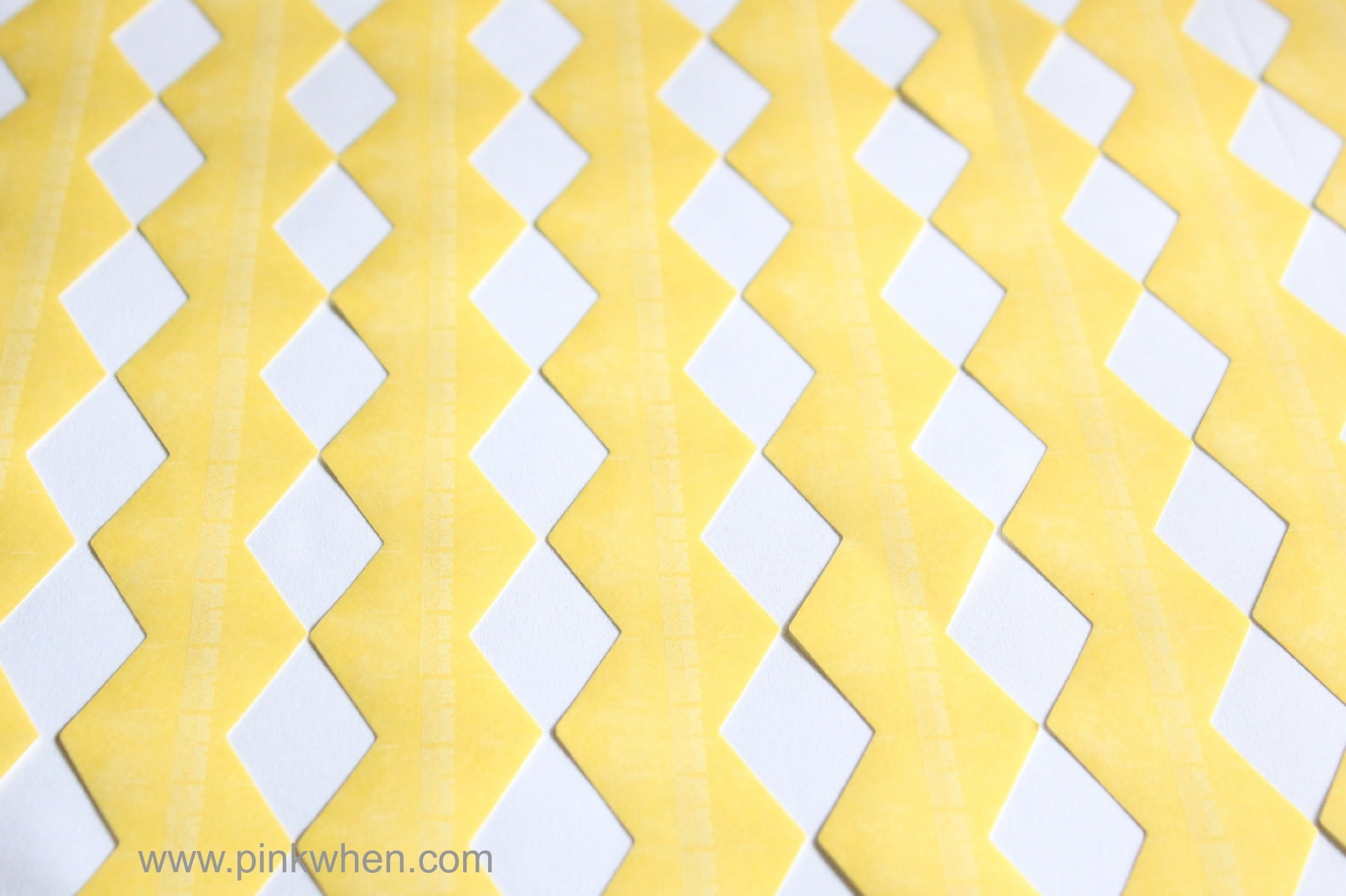 Easy DIY Fabric Painted and Patterned Pillow Case with FrogTape® Shape Tape™ via PinkWhen.com 4